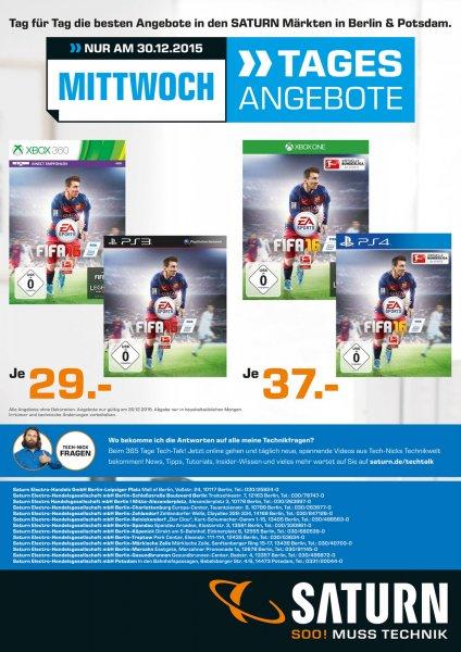 [Lokal Saturn Berlin/Potsdam] Tagesdeal am 30.12 Fifa 16 für 29€/37€