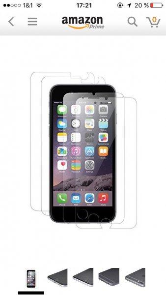 (Amazon) 4 x iGard iPhone 6 6S Klar Crystal Clear Schutzfolie 2 x Vorderseite + 2 x Rückseite für 2,90€ inkl. Versand