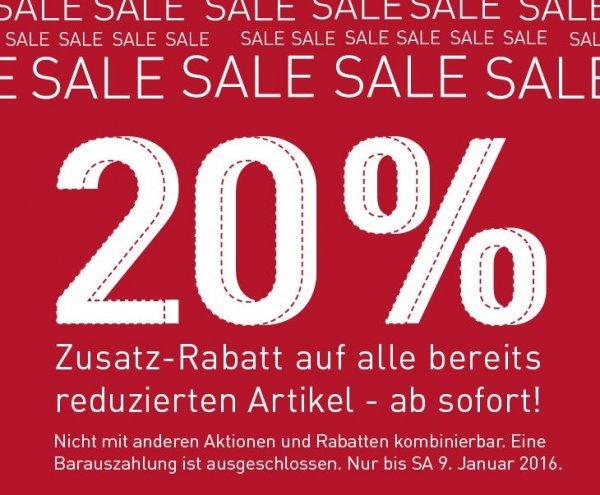 20% auf bereits reduzierte Artikel bei Modepark Röther