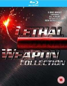 [zavvi.com] Lethal Weapon 1-4 Box Set ( Bluray ) für 10,59€ inkl. Versand