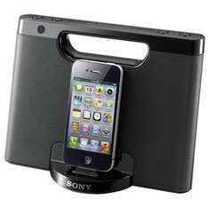 Sony RDP-M7iPN (schwarz) - Mobiler Lautsprecher (Lightning iPhone/iPod Dock, AUX-In, Batterienbetrieb), Notebooksbilliger, versandkostenfrei