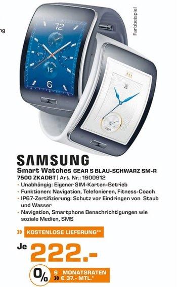 (lokal) Samsung Galaxy Gear S für 222€ @ Saturn Ludwigsburg