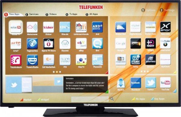 Full HD LED-TV Telefunken D43F277R3C (43 Zoll (110cm) EEK A+ , Tripletuner, Smart TV, WLAN ready, CI+ Schwarz) für 269 € @ Conrad.de