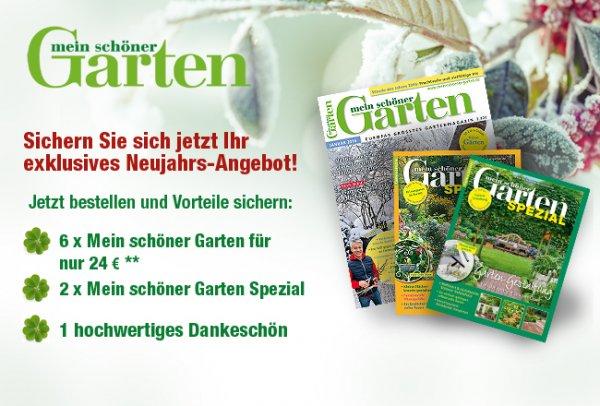 """NeujahrsAngebot: Zeitschrift """"Mein schöner Garten"""" 6x für 9 €/10€ Rechnerisch -> Kündigung notwendig"""