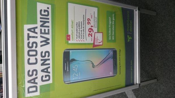Samsung S6 Edge 1,-€ mit Debitel Vodafone monatlich 29,99€