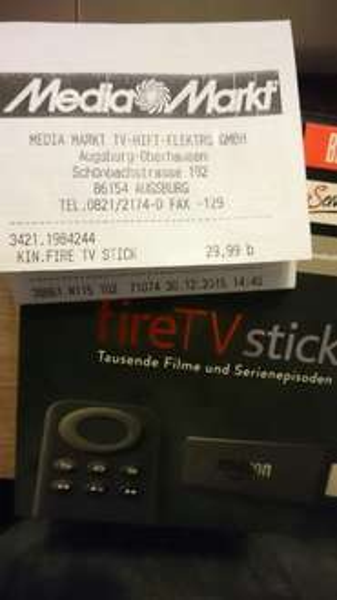 [Lokal] Fire TV Stick für 29,99 bei Media Markt Augsburg Oberhausen