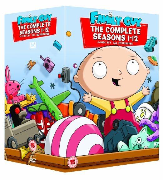 [zavvi.de] Family Guy - Staffel 1-12 = 27,79€ ; Staffel 1-14= 41,69 € -> DVDs mit O-Ton