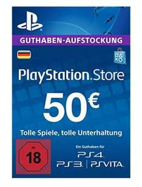 [Amazon] Playstation Network (PSN) 50€ für 45€