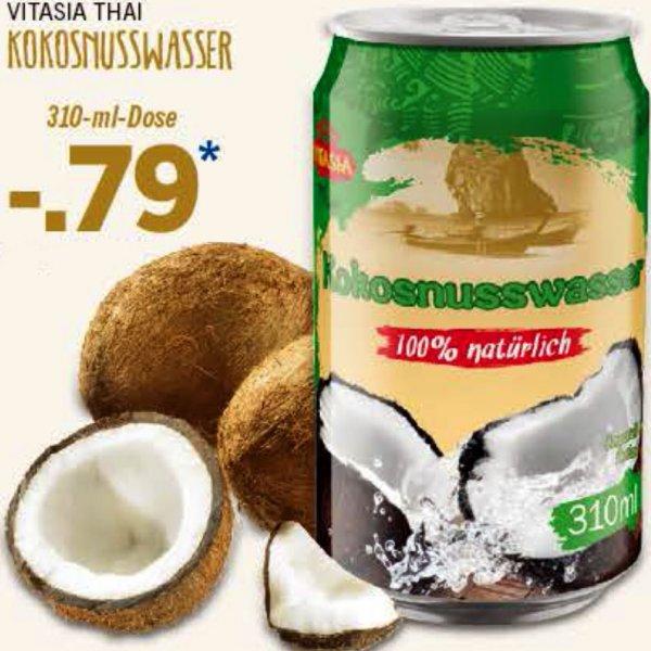 Kokosnusswasser 310 ml für 0,79 € und Kokosnussmilch 400 ml für nur noch 0,89 € bei [Lidl]