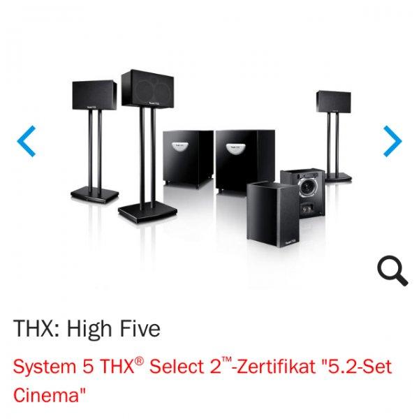 [Online Teufel] Teufel System 5 THX, 5.2 Set (nochmal günstiger:)
