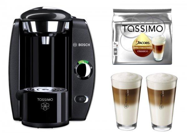 TASSIMO FIDELIA + 20 € Gutscheine + WMF Latte Macchiato Gläserset + TDiscs für 29,99 € VSK-Frei eBay WOW!