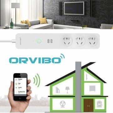 ORVIBO COCO  Wifi intelligente Merfachsteckdosenleiste mit 2x USB EU Stecker, Ein- / Aus Elektronik, Fernbedienung, Zeitfunktion, mit APP für iOS und Android @banggood