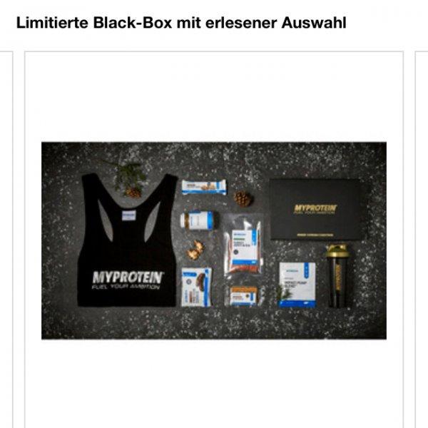 """[Online MyProtein] 25% auf ALLES + Gratis """"Blackbox"""" (Wert ca. 47€)"""
