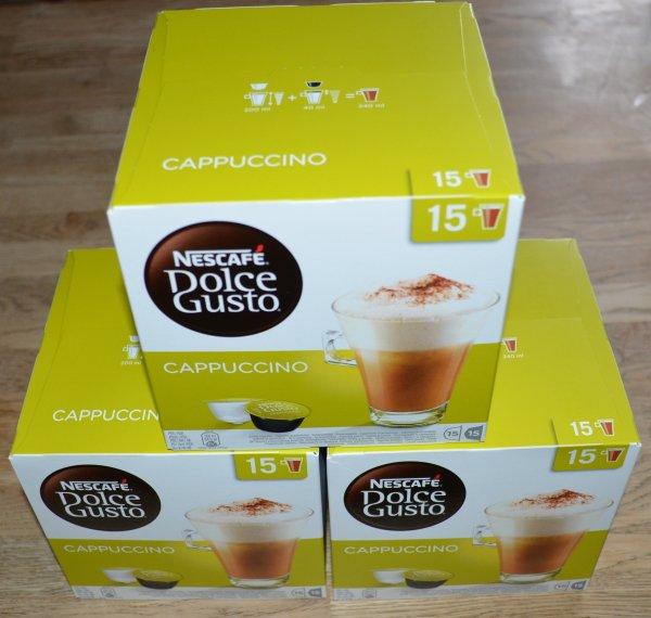 [amazon.de Prime] Dolce Gusto Cappuccino 45 Portionen (noch mind. 25 Tage haltbar)