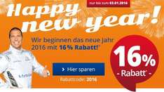 16% Happy New Year mit KfzTeile24