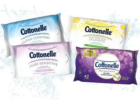[ROSSMANN bundesweit] KW01 Cottonelle Feuchtes Toilettenpapier (versch. Sorten) für 0,49 € bzw. 0,34 € (Angebot + Scondoo + 10% Rossmann Coupon) [04.01.2016 - 08.01.2016]