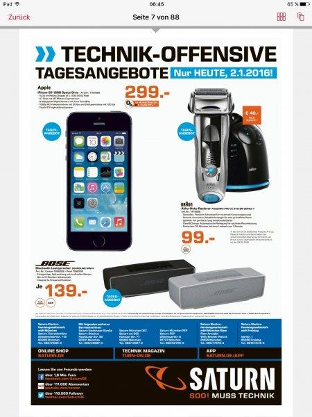 (Saturn München + Freising) Iphone 5s 16 GB Spacegrau 299,00 Euro