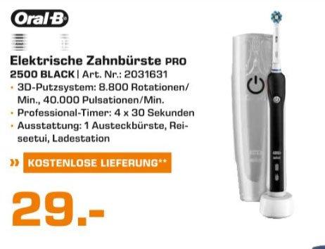 [Saturn Köln] Braun Oral B 2500 Black inkl. Reiseetui für 29,00 €
