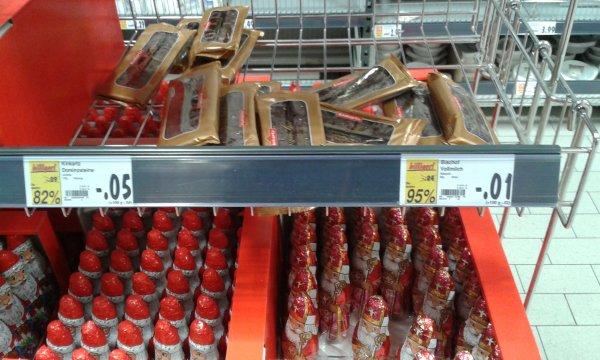 [Dresden-Striesen] Kaufland: Schoko-Weihnachtsmann 60g für 0,01 € - 95% Ersparnis