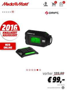 "[Media Markt.de] ""Drift 2 Stealth"" Action Cam für 99 €"
