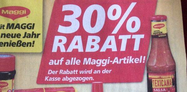 [Real offlline] 30 % auf alle Maggi Artikel