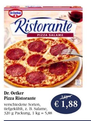 Dr.Oetker Ristorante Pizza bei Sky für 1,38€