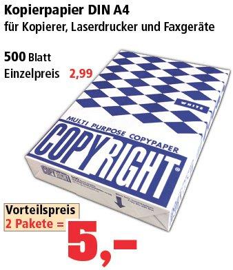 [Thomas Philipps] A4-Ordner 88ct, Kopierpapier 5€/2Packungen