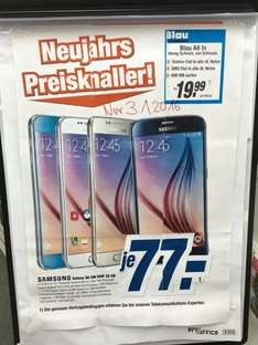 Samsung S6 32 GB 77€ + Blau All-IN 19,99€ 24 Monate Expert-Klein Petersberg