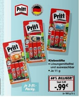 3x Pritt Klebestifte für 0,99€ bei Kaufland ab Montag