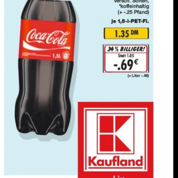 Cola für 0,46€/Liter Kaufland (Lokal, bzw nicht in allen Märkten zu dem Preis)
