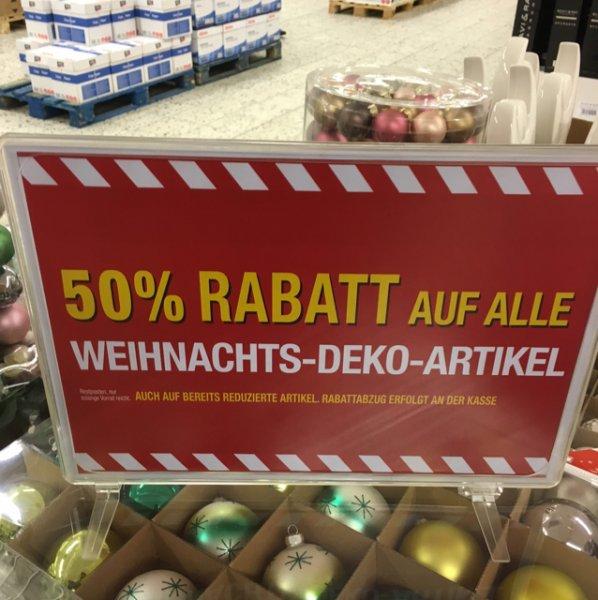 Metro Berlin: Weihnachtsdekoartikel um 50% reduziert