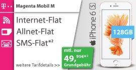 *Vorbei* Telekom Magenta Mobil M Friends mit IPhone 6s 128GB für 49,95€/Monat + 32,90€ Einmalig