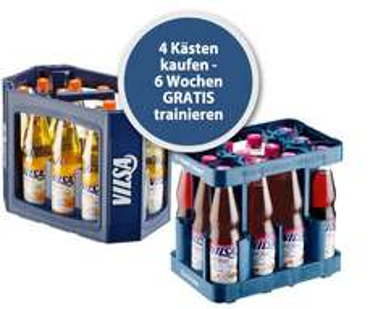 4 Kästen oder 48 Flaschen Vilsa H2Obst kaufen und 6-Wochen Trainingspass für einen von 1200 Fitnessstudios deutschlandweit erhalten