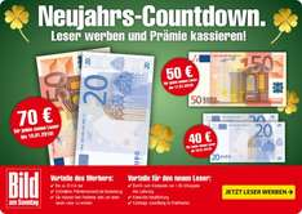 1 Jahr Bild am Sonntag für 21,20€