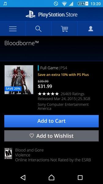 bloodborn im US PS Store für 31,99$