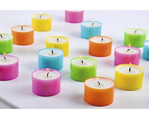 [Hornbach] 24 Teelichte / Teelichter 6h bunt von Müller Kerzen für 1 Euro