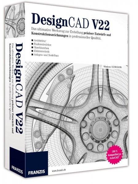 DesignCAD V22 2D mit Basis Toolkit gratis statt bisher 39 Euro
