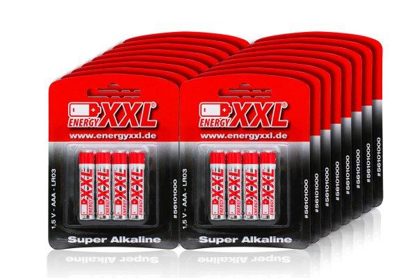(Amazon Prime) AAA Batterien energyXXL 120 Stück für nur 15,23€