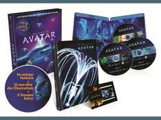 Blu-Ray - Avatar – Extended Collector´s Edition: 3 Blu-rays mit Fanbuch @ Saturn für 12,99€  PVG: 21€