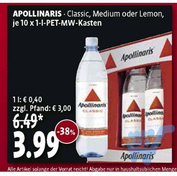 Apollinaris 3,99€ pro Kasten exklusive Pfand - Kaisers[Raum Leverkusen evtl bundesweit?]