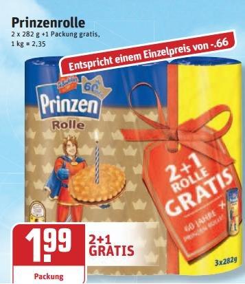 Rewe - de beukelaer prinzenrolle   2+1 Gratis 1,99  €