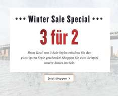 Tom Tailor 3 für 2 und 50% Winter Sale.