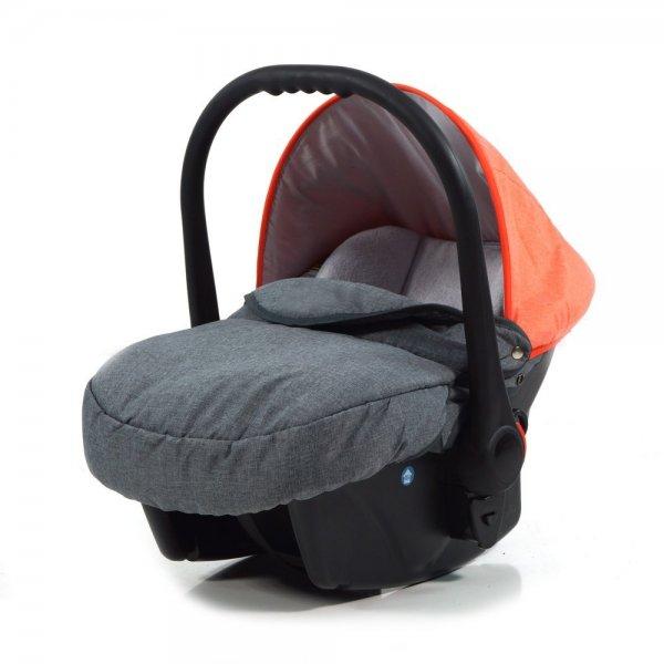 knorr-baby 3270-3 Autositz, Voletto Happy Colour, grau/orange Babyschale@Amazon.de 42,03 €