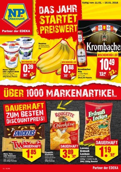 1 KG Bananen für 0,88€ bei NP Discount