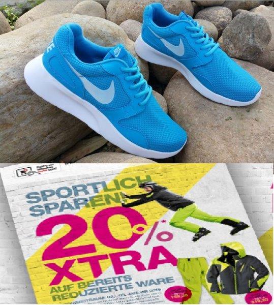 [SPORTARENA] 20 % auf Sale + 5 € NL-Gutschein z.B. Nike Kaishi - versch. Größen u. Farben ab 39,95 €.