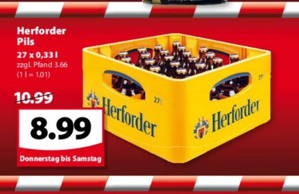famila-nordost Herforder Pils 27 x 0,33 l für 8,99€ zzgl.Pfand