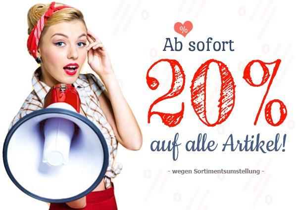 20% bei www.miss-mole.de