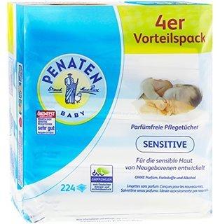 [Rossmann] Penaten Feuchttücher 4er Pack für 2,24 €