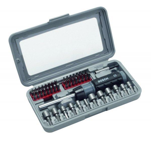 Bosch Schraubendreher und Bit-Set 46 Teile (2607019504) für 15,49 € inkl. Versand @ notebooksbilliger.de (Wieder verfügbar)