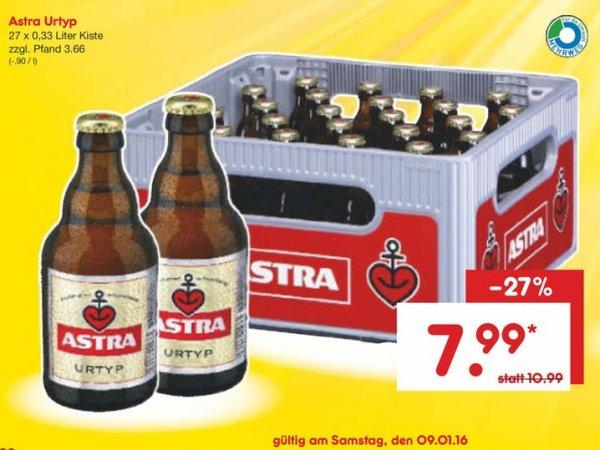 [ Netto HH + SH ] Kiste Astra 27 x 0,33 für 7,99
